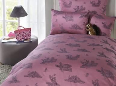 Vorschaubild curt bauer bettwaesche kids waldfreunde pink damast