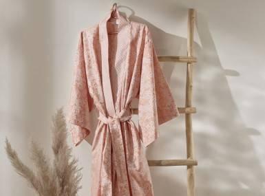 Vorschaubild curt bauer morgenmantel cosy satin rosewood